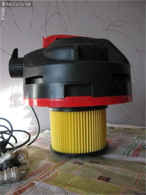 Вид головы с воздушным фильтром