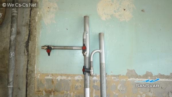 Сваренные стояки водоснабжения 1