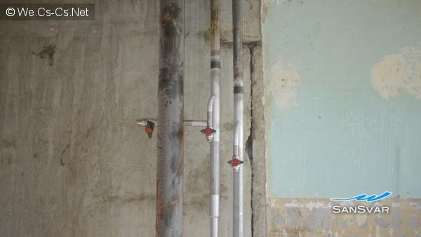 Сваренные стояки водоснабжения 2