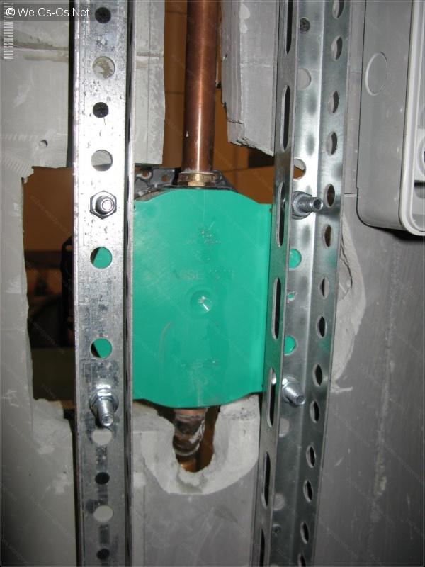 Закрепление скрытого термосмесителя 2