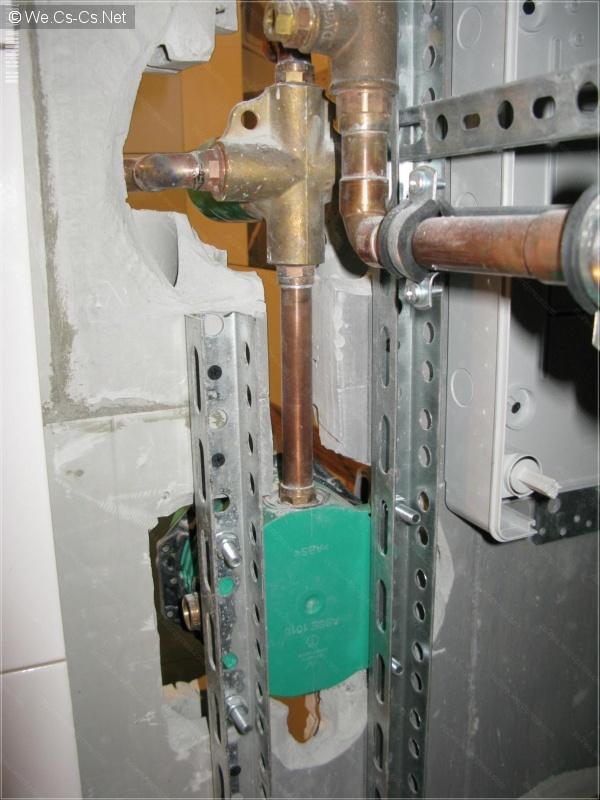 Закрепление скрытого термосмесителя 1