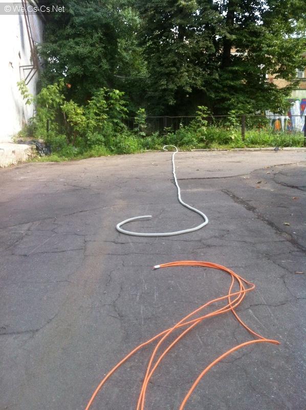 Раскладываем кабели
