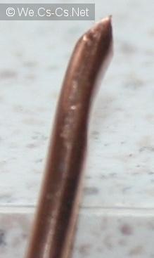 Деформация от контакта боковой жилы с гильзой