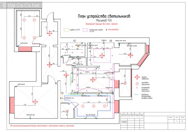 План устройства светильников